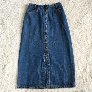 Gloria Vanderbilt Vintage Button Down Jean Skirt